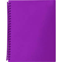 MARBIG DISPLAY BOOK REFILLABLE 20 POCKET A4 PURPLE