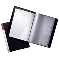 MARBIG CLEARVIEW DISPLAY BOOK 24 POCKET A4 BLACK