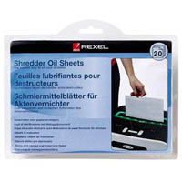 REXEL SHREDDER OIL SHEETS PACK 20