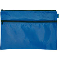 CELCO POUCH NYLON LARGE 2 ZIP 400 X 275MM BLUE