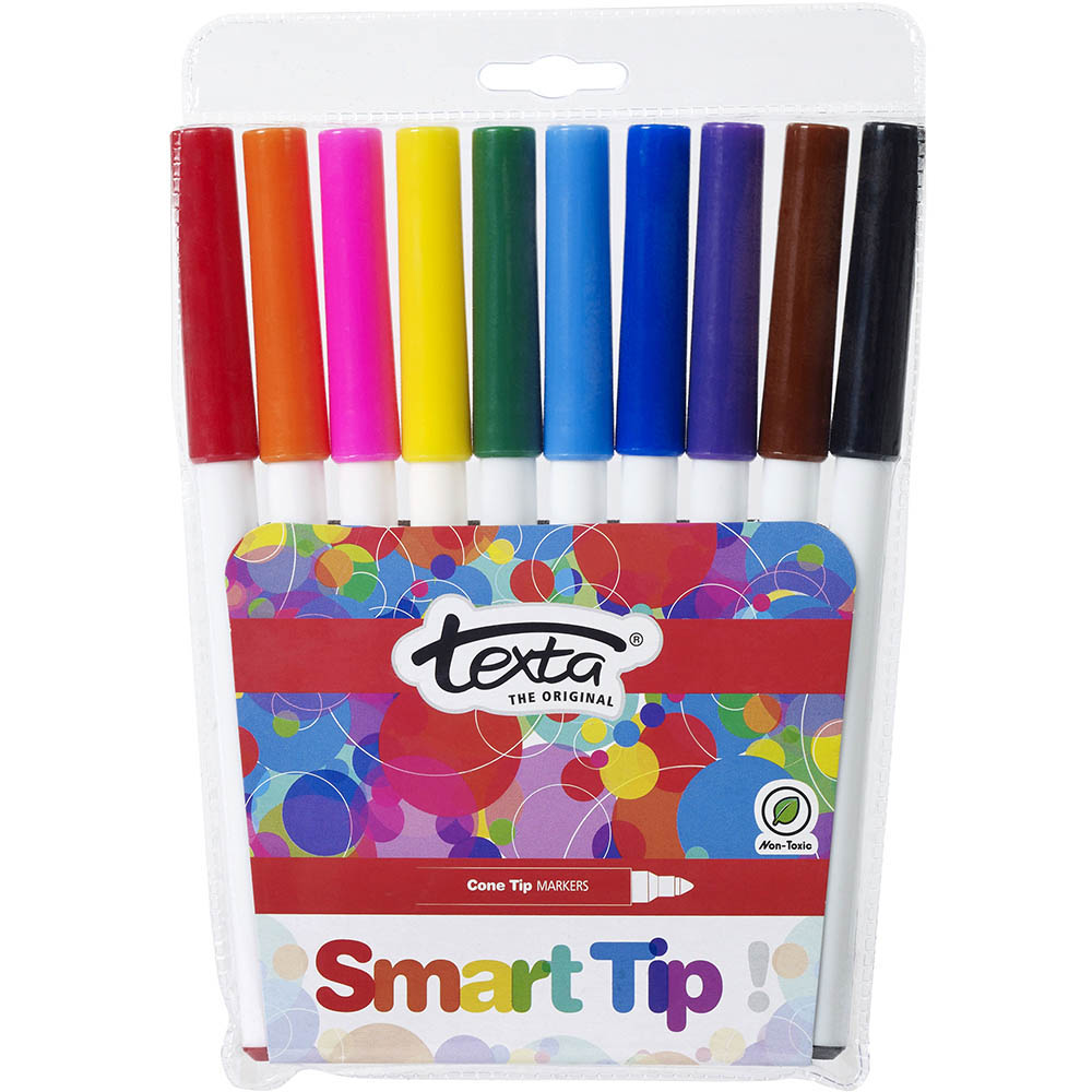 Image For TEXTA SMARTTIP COLOURING MARKERS ASSORTED WALLET 10 From Office  Products Depot Macarthur