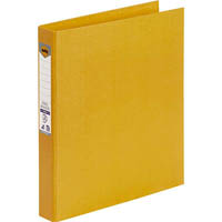 MARBIG RING BINDER PE 25MM 2D A4 YELLOW