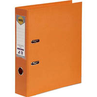 MARBIG LINEN LEVER ARCH FILE PE A4 ORANGE