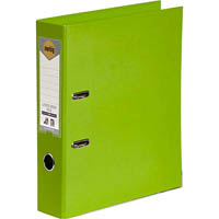 MARBIG LINEN LEVER ARCH FILE PE A4 LIME