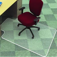MARBIG CHAIRMAT LOW PILE KEYHOLE 1140 X 1340MM
