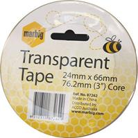 MARBIG OFFICE TAPE 24MM X 66M 76.2MM CORE