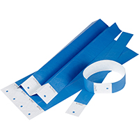 REXEL TYVEK WRISTBANDS WITH SERIAL NUMBER BLUE PACK 10