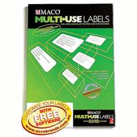 MACO LABELS MULTI-USE 45UP 51 X 15MM WHITE BOX 100