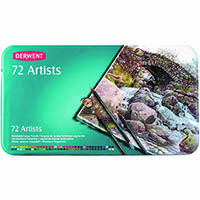 DERWENT ARTISTS PENCIL ASSORTED TIN 72