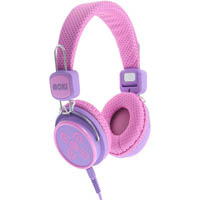 MOKI KID SAFE VOLUME LIMITED HEADPHONES PINK/PURPLE