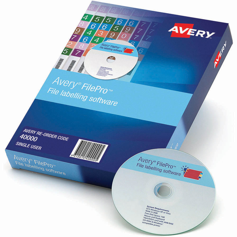 Image For Avery 40000 Filepro Lateral Filing Single User Licence From Challenge Office Supplies