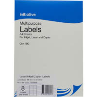 INITIATIVE MULTI-PURPOSE LABELS 8UP 99.1 X 67.7MM PACK 100