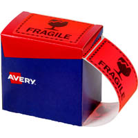 AVERY 932603 MESSAGE LABEL FRAGILE 75 X 99.6MM FLUORO ORANGE PACK 750