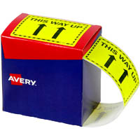 AVERY 932605 MESSAGE LABEL THIS WAY UP 75 X 99.6MM FLUORO YELLOW PACK 750