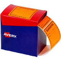 AVERY 932621 MESSAGE LABEL QUARANTINE 75 X 74.2MM FLUORO ORANGE PACK 1000