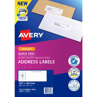 AVERY 936028 J8163 QUICK PEEL ADDRESS LABEL WITH SURE FEED WITH SURE FEED INKJET 14UP WHITE PACK 25