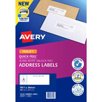 AVERY 936029 J8162 QUICK PEEL ADDRESS LABEL WITH SURE FEED INKJET 16UP WHITE PACK 25