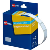 AVERY 937303 LABEL DISPENSER RECTANGLE 10 X 16MM WHITE BOX 1500
