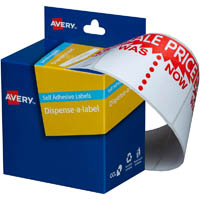 AVERY 937309 MESSAGE LABELS SALE WAS/NOW 44 X 63MM PACK 400
