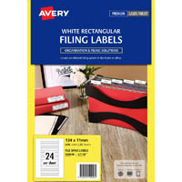 AVERY 959058 L7170 LASER LABEL FILE SPINE 24UP WHITE PACK 25
