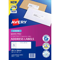 AVERY 959111 L7162 QUICK PEEL ADDRESS LABEL WITH SURE FEED LASER 16UP WHITE PACK 40