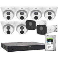 UNIVIEW OFFICE SURVEILLANCE CAMERA PACK WHITE
