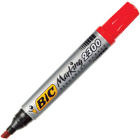 BIC MARKING 2300 ECOLUTIONS PERMANENT MARKER CHISEL TIP RED