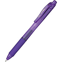PENTEL ENERGEL-X RETRACTABLE GEL INK PEN 0.7MM VIOLET