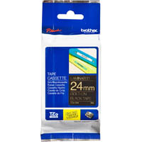 BROTHER TZE-354 LAMINATED LABELLING TAPE 24MM GOLD ON BLACK