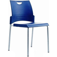 BURO PRONTO CHAIR 4-LEG STACKER BLUE