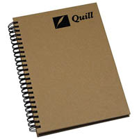QUILL HARDCOVER SPIRAL BOUND NOTE BOOK 160 PAGE A5
