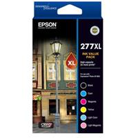 EPSON 277XL INK CARTRIDGE VALUE PACK HIGH YIELD, BLACK, CYAN, MAGENTA, YELLOW, LGT CYAN, LGT MAG