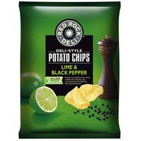 RED ROCK DELI CHIPS LIME AND PEPPER 165G