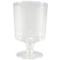 CAPRI WINE GLASS PLASTIC 62ML PACK 10