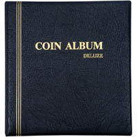 CUMBERLAND COIN ALBUM REFILLABLE PVC PADDED COVER 6 RING 290 X 275MM