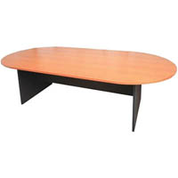 RAPIDLINE BOARDROOM TABLE OVAL 2400 X 1200MM BEECH/IRONSTONE