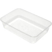 CAPRI MICROWAVABLE CONTAINERS RECTANGLE 500ML PACK 50