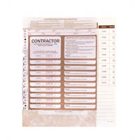 ZIONS CSPR CONTRACTORS SITE PASS REGISTER CONTAINING 100 PASSES