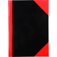 BLACK AND RED NOTEBOOK CASEBOUND RULED GLOSS COVER 200 LEAF A4