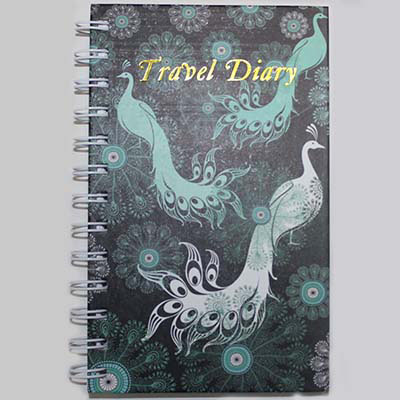 Attrayant Image For CUMBERLAND PEACOCK TRAVEL DIARY SPIRAL 170 X 105MM From Prime Office  Supplies