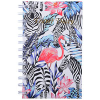 CUMBERLAND FLAMINGO / ZEBRA TRAVEL DIARY SPIRAL 170 X 105MM 72 LEAF