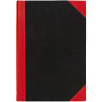 BLACK AND RED NOTEBOOK CASEBOUND RULED 100 LEAF A5