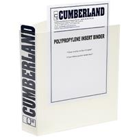 CUMBERLAND EARTHCARE INSERT BINDER 3D RING A3 40MM WHITE