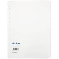 INITIATIVE DIVIDERS MANILLA 10-TAB A4 WHITE