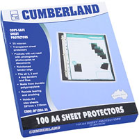 CUMBERLAND PROTECTOR COPY SAFE CLEAR 35 MICRON A4 CLEAR PACK 100