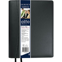 DEBDEN 2020 ELITE EXECUTIVE DIARY DAY TO PAGE 1 HOUR QUARTO BLACK