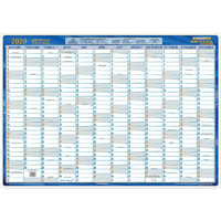 WRITERAZE QC2 2020 EXECUTIVE YEAR PLANNER LAMINATED FRAMED 700 X 1000MM