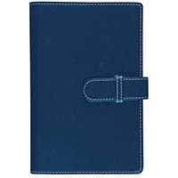 DEBDEN ACCENT COMPENDIUM A4 WITH RULED NOTEPAD 245 X 320MM PU COVER NAVY BLUE