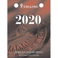 COLLINS 2020 CALENDAR REFILL DAY TO PAGE TOP PUNCH