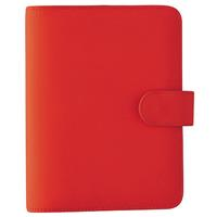DEBDEN PERSONAL DAYPLANNER PU SNAP CLOSURE 172 X 96MM RED
